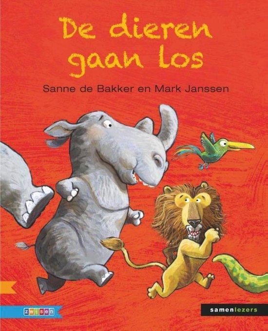 Boek cover Samenlezers  -   De dieren gaan los van Sanne de Bakker (Hardcover)