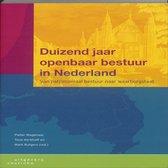 Boek cover Duizend jaar openbaar bestuur in Nederland van Nvt.