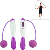 Digital Professional Counting Jump Rope Sports Ball Counter Skipping Rope (Purple)
