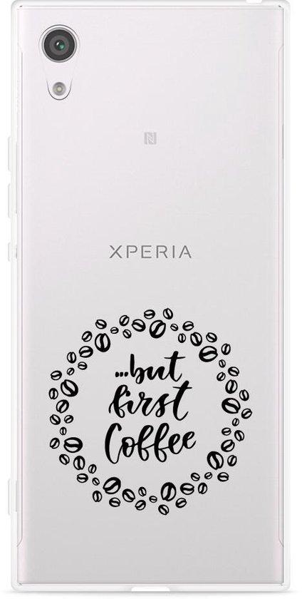 Sony Xperia XA1 Hoesje But first coffee