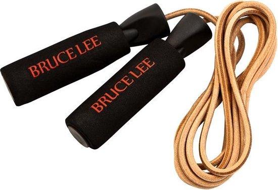 Bruce Lee Dragon Deluxe Verzwaard Leder Springtouw