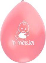 Geboorteballon hoera een meisje -Ballonnen
