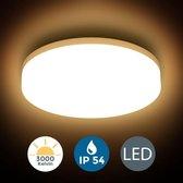 B.K.Licht - Plafondlamp Badkamer - LED plafoniere - bad verlichting - warm wit licht - IP54 - 1500LM - Ø22cm