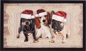 Deurmat kerst kersthonden Wasbaar 30°C 45x75 cm