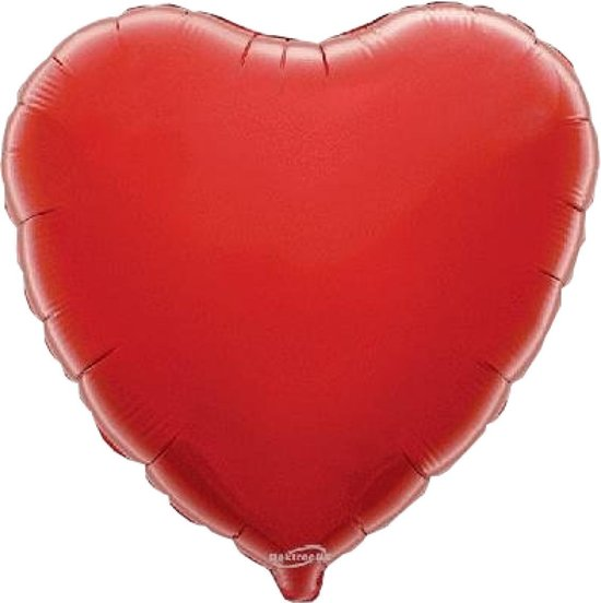 Oaktree - Folieballon - Rood - Hart
