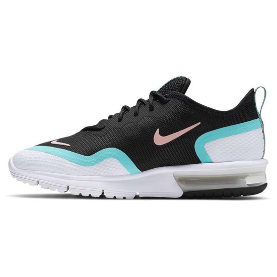 Nike Air Max Sequent 4.5 sneakers dames zwartwitturquoise