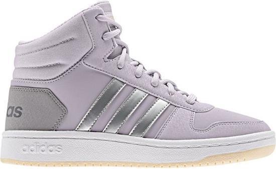 adidas Hoops 2.0 Mid Dames Sneakers - Mauve/Mauve/Ftwr White - Maat 39 1/3