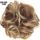 Haar Wrap, Brazilian hairextensions knotje bruin/blond 12/24#
