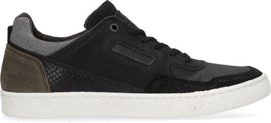 Manfield - Heren - Zwarte sneakers - Maat 43