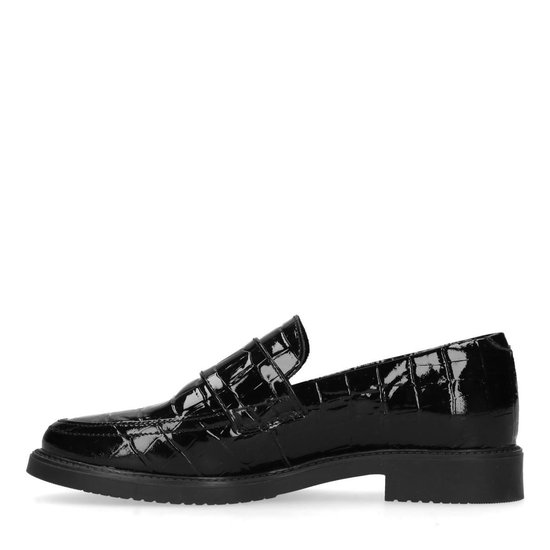 Manfield - Dames Zwarte Lak Loafers Maat 42 xGTESY