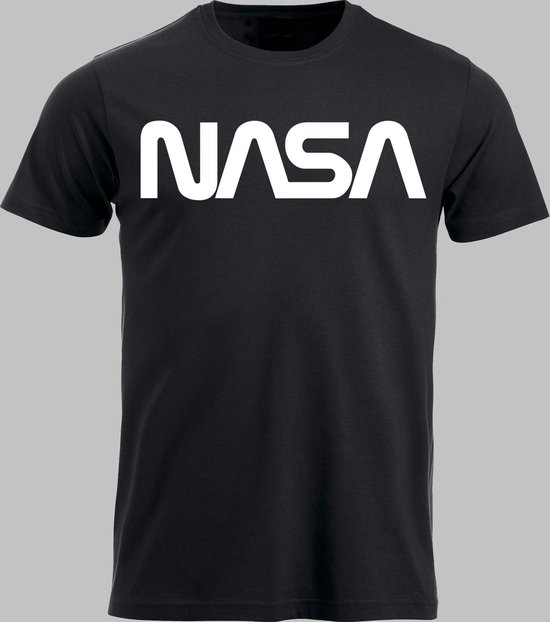 T-shirt M NASA - Zwart - M - XXL Sportshirt