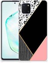 TPU Hoesje Samsung Galaxy Note 10 Lite Zwart Roze Vormen