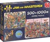 Jan van Haasteren Feestje! - Puzzel 2in1 500 &