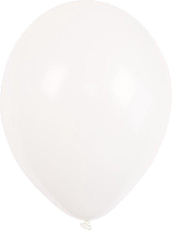 Amscan Ballonnen Wit Crystal 27,5 Cm 25 Stuks