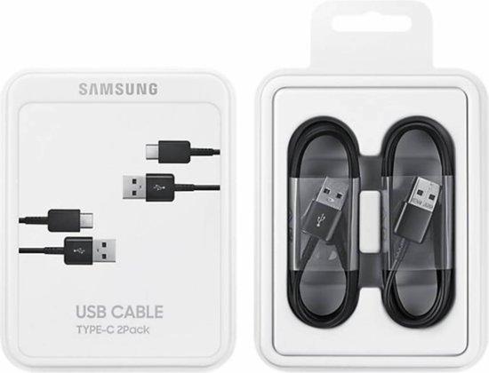 USB 2.0 + USB C kabel - 1,5 m - Zwart - duopack