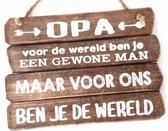 Wandborden Spreukbord Opa - Hout