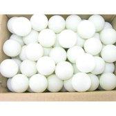 Red Celebration Ping pong ballen - Wit - 50 stuks