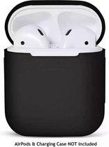 Afbeelding van siliconen hoesje Airpod case - beschermhoesje voor je Airpods - Zwart