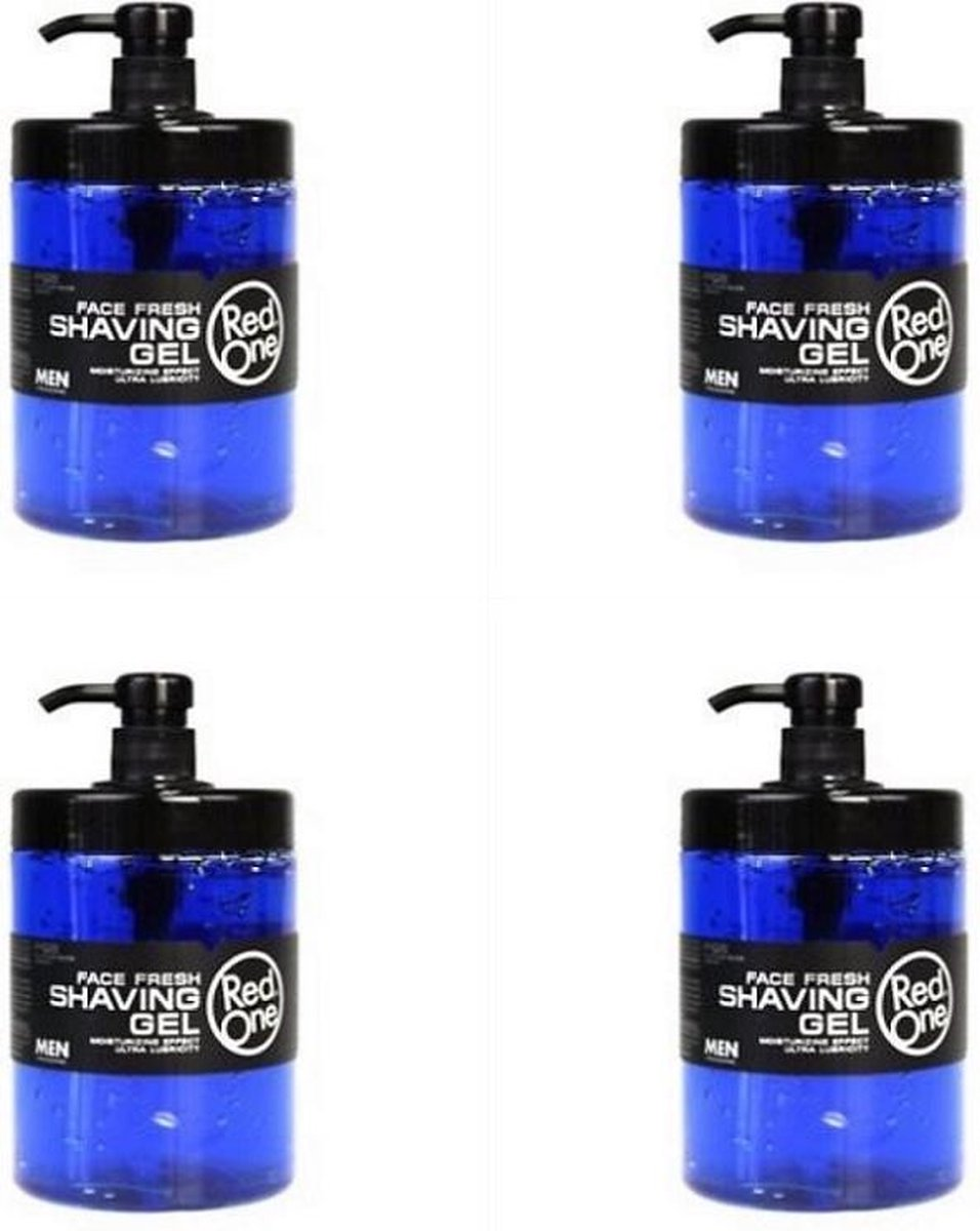 Red one Face Fresh Shaving gel 4x1000 ml - Red One