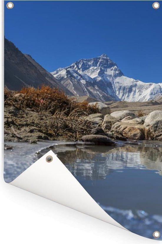 (Basiskamp) Everest in Tibet Tuinposter 120x180 cm - Tuindoek / Buitencanvas / Schilderijen voor buiten (tuin decoratie) XXL / Groot formaat!