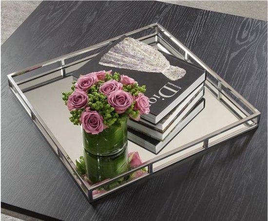 LW Collection Spiegeldienblad vierkant 40x40cm *Limited Edition* - Vierkante Spiegeldienblad / Luxe spiegel dienblad