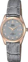 Q&Q Prachtige dames horloge-met datumaanduidng -QZ13J112Y