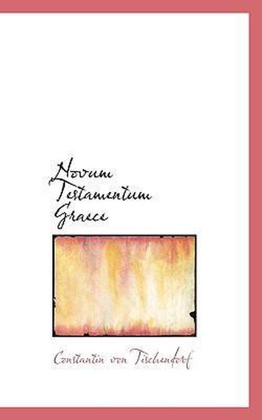 Boek cover Novum Testamentum Graece van Constantin Von Tischendorf (Paperback)
