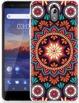 Nokia 3.1 Hoesje Retro Mandala