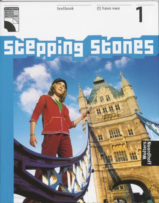 Boek cover Textbook 1 (t) havo vwo stepping stones van N. Blom-Poldrugac (Hardcover)