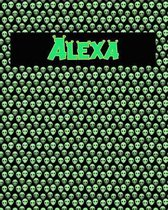 120 Page Handwriting Practice Book with Green Alien Cover Alexa
