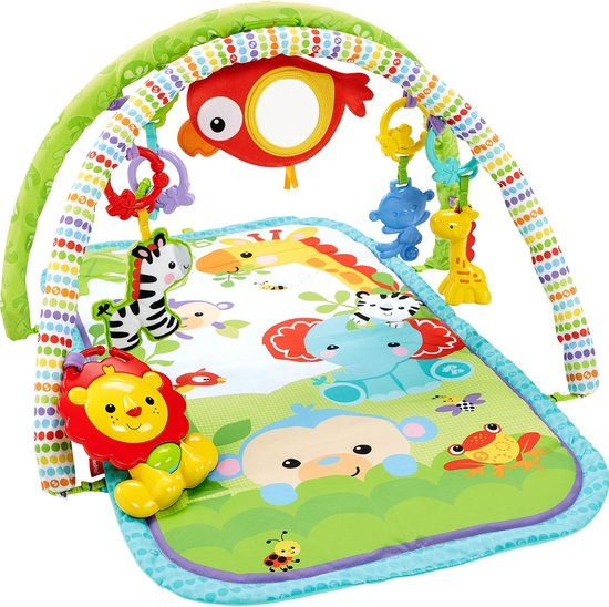 Product: Fisher-Price 3-in-1 Muzikale Activity Gym Rainforest Friends - Speelkleed, van het merk Fisher-Price
