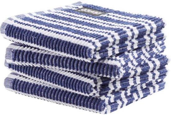DDDDD vaatdoek Classic Clean - classic blue - 30 x 30 cm - 4 stuks