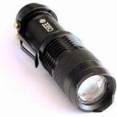 Torch LED 300 Lumens zaklamp mini black 9,3 CM