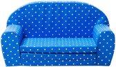 Gepetto uitklapbaar Kinderbankje blauw-wit