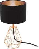 EGLO  Carlton 2 Tafellamp - 1 Lichts - Ø165mm. - Zwart, Koper