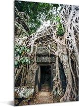 Ruïnes in Angkor wat Aluminium 120x180 cm - Foto print op Aluminium (metaal wanddecoratie) XXL / Groot formaat!