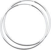 The Jewelry Collection oorringen Ronde Buis - Zilver Gerhodineerd - 1.5 mm