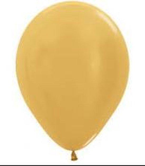 """Sempertex ballon goud 5"""""""