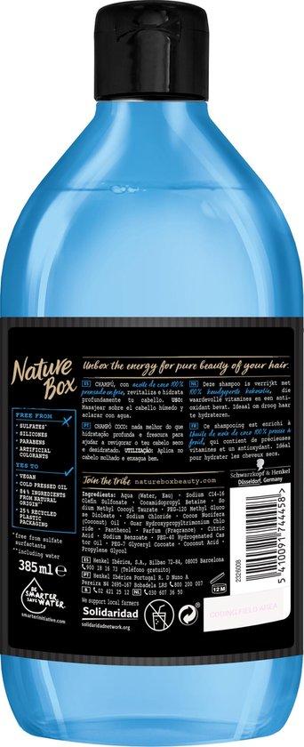 Nature Box Kokos Vegan Shampoo 385ml - 6 stuks - Voordeelverpakking