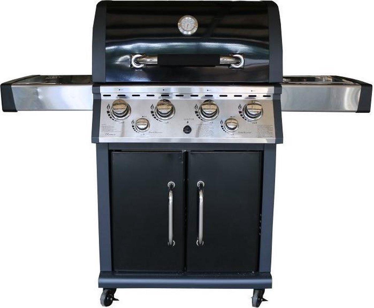 Fonteyn San Diego Barbecue - 4 branders - Zwart