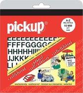 Pick-Up Boekje Plakletters Helvetia - Zwart/Mat - 10 mm