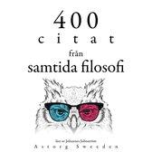 400 citat från samtida filosofi