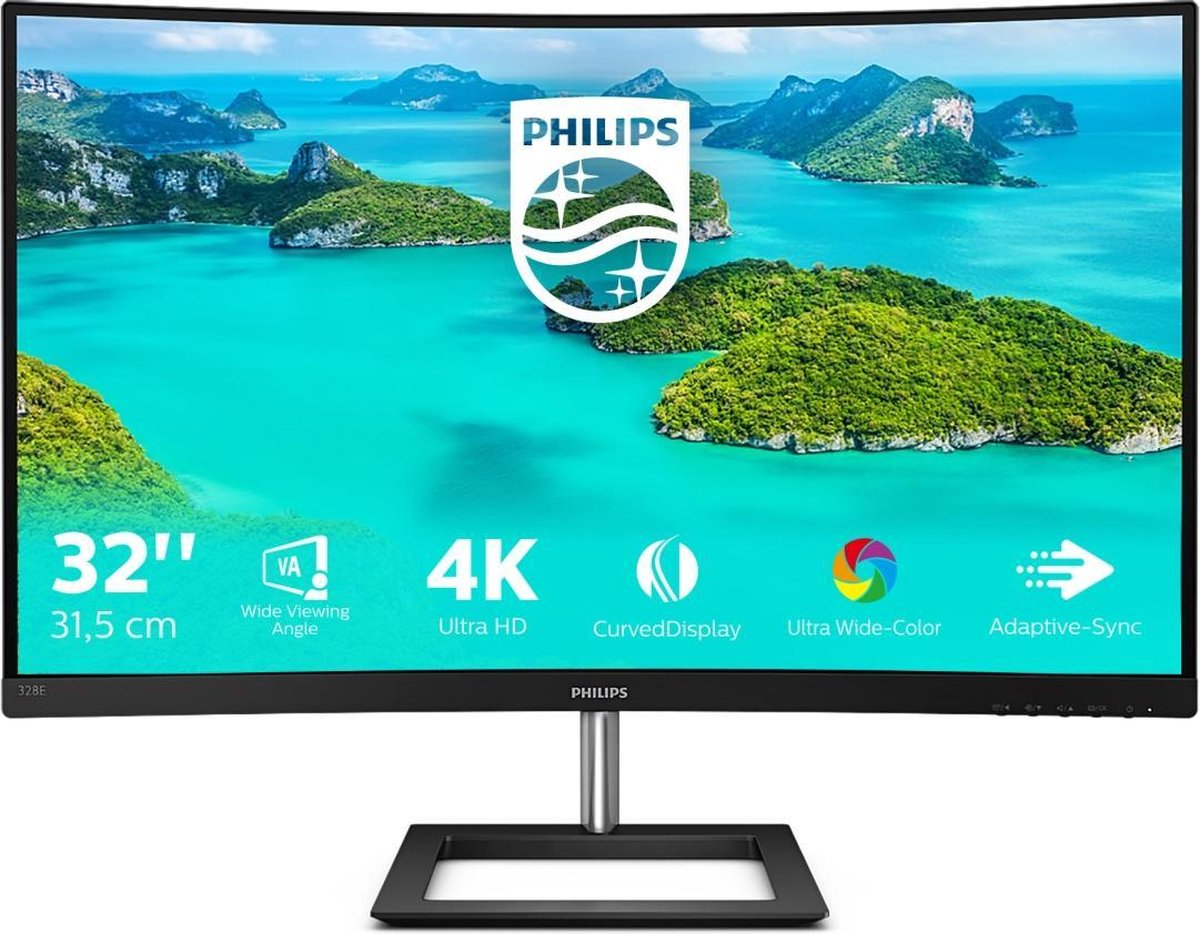 Philips 328E1C – Curved 4K Monitor – 32 inch