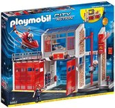 PLAYMOBIL City Action Grote brandweerkazerne met helicopter - 9462