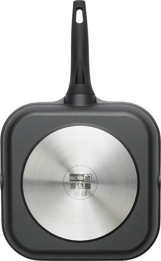 Sola Fair Cooking grillpan - 28 cm - Zwart