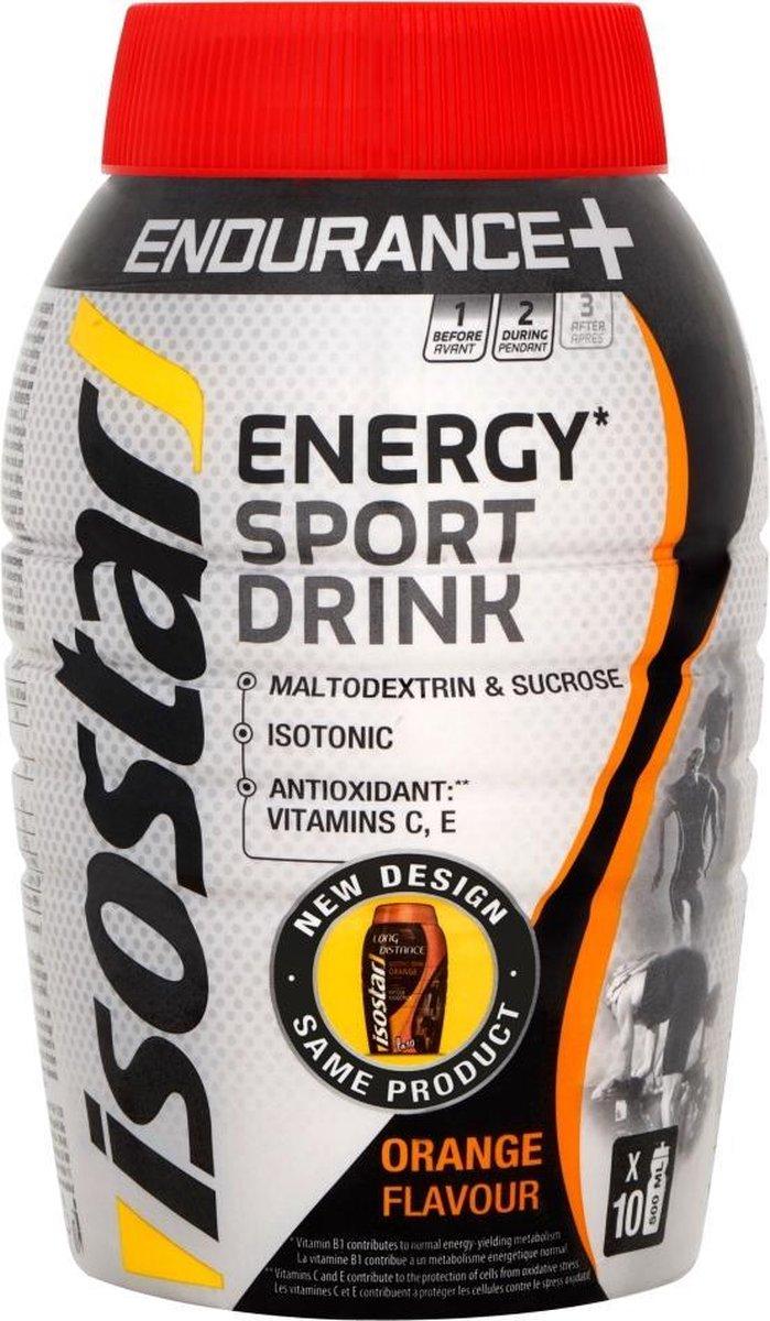 Isostar Long Energy Poeder - Sportdrank met Toegevoegde Vitamine B1, C en E - Orange - 790 gram