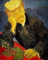 Full Diamond Painting Volwassenen  - Ronde Steentjes  - Volledig Pakket  - Hobby  - Kunst - Oude Meesters - Portret van Dr.Gauchet Van Gogh 50x40cm