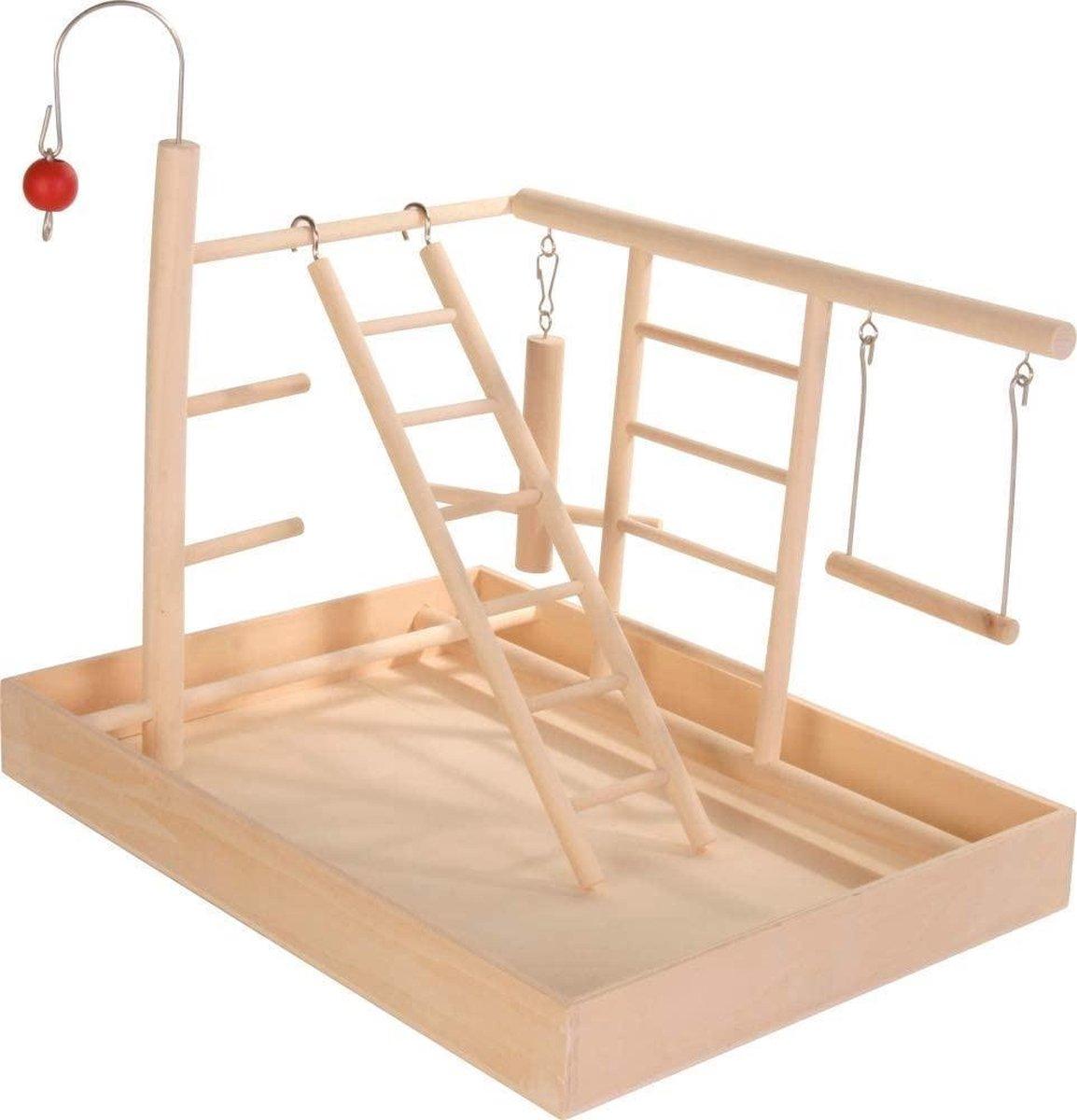 Trixie Speelplaats Hout Voor Kanarie En Parkiet - 35 x 5 x 27 cm