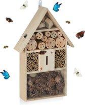 relaxdays insectenhotel groot - vlinderkast insectenhuis hout - bijenhotel - bijenhuis