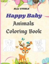 Happy Baby Animals Coloring Book For Kids